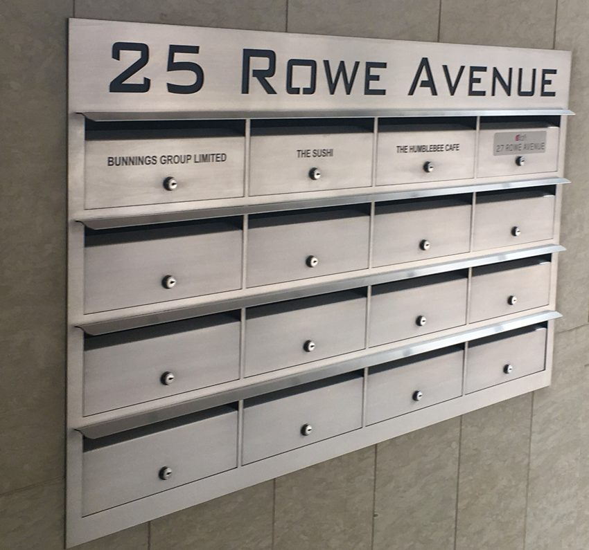 In wall Stainless Apartment Mailbox