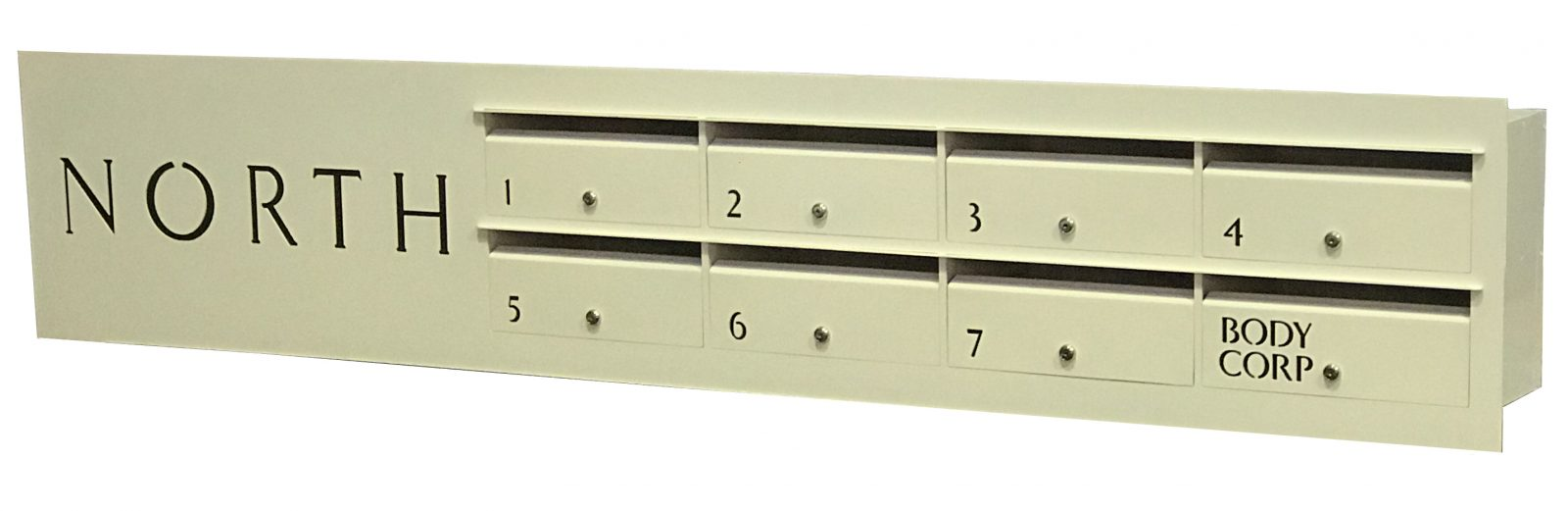 letterboxe for unit with 3mm alum face