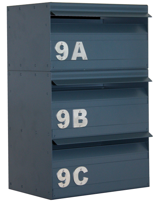 Letterbox with large numbers