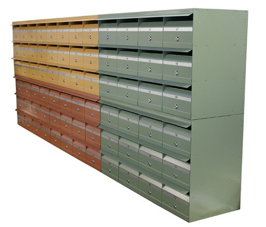 Unit letterboxes in modern colours