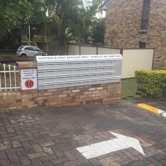 Unit letterbox Australia Post