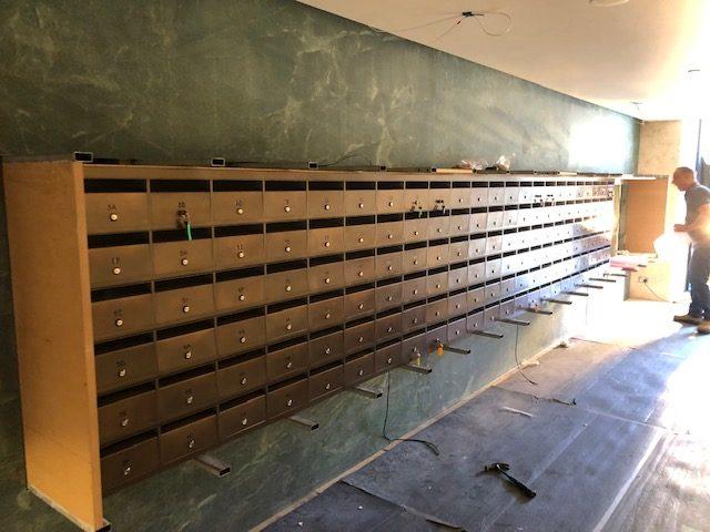 Brass mailbox with aged brass finish