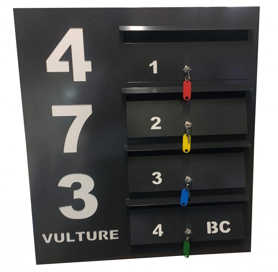 alum unit letterbox