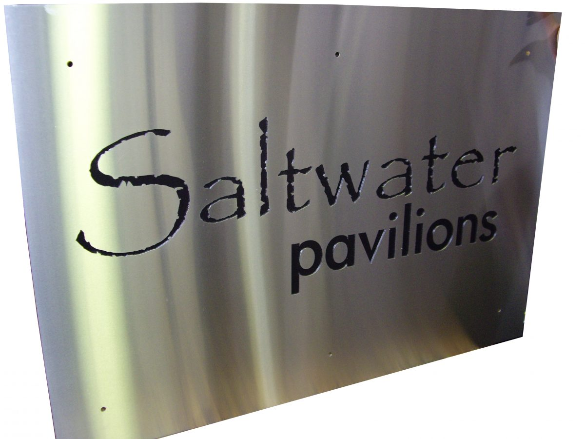Stainless Steel through cut signs
