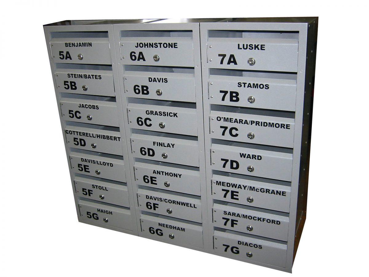 custom build apartment mailbox