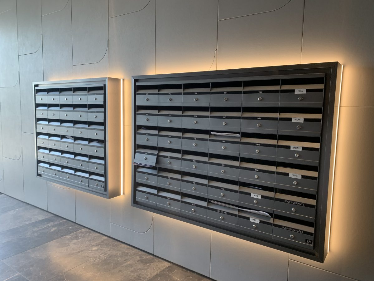 Unit Letterboxes with back light