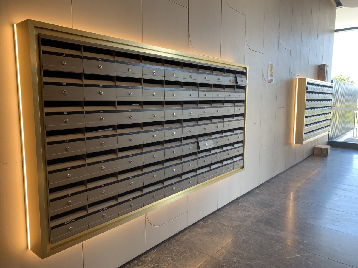 letterboxes in hotel