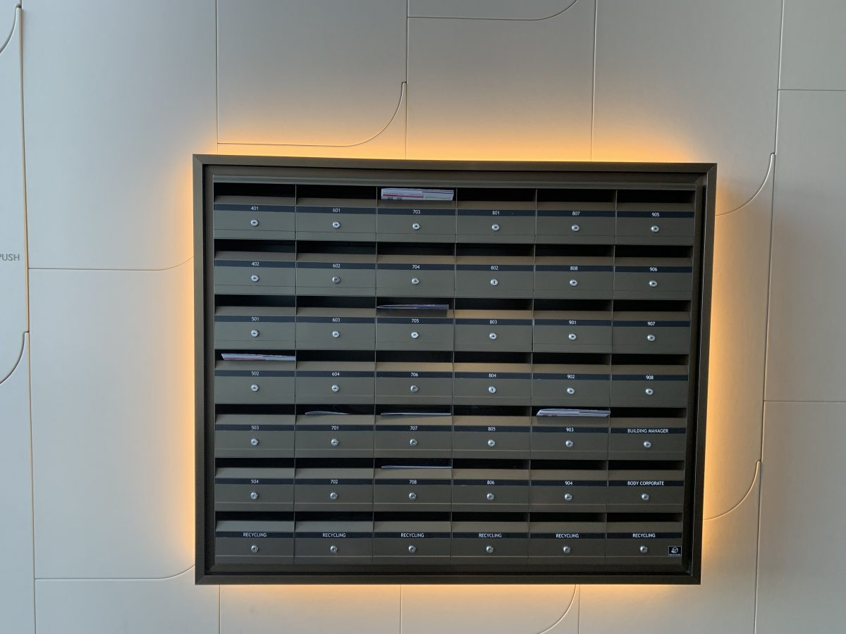 On wall large letterbox modules
