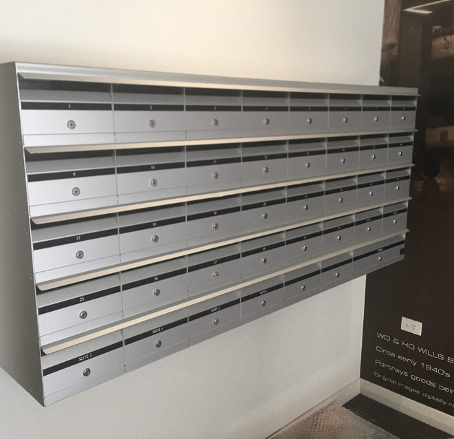 Front Opening Anodised Mailbox Cluster